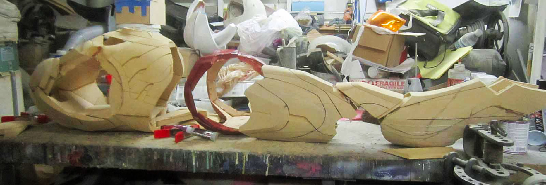 Carving the iron man suit