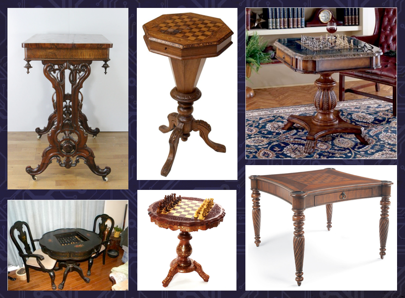 There is an endless variety of chess table designs.
