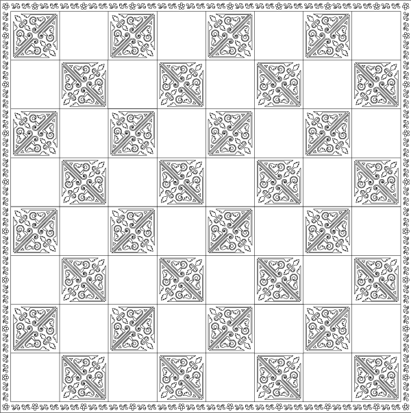Full chess board with border.