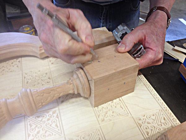 Measuring for peg holes