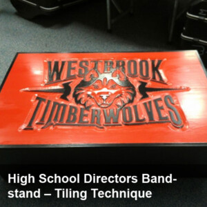 Multi-Piece High School Directors Bandstand Project - Tiling Technique