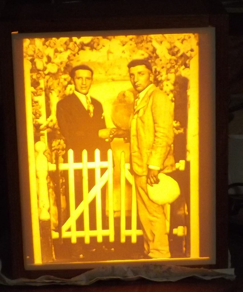 Carved historic photo Lithopane