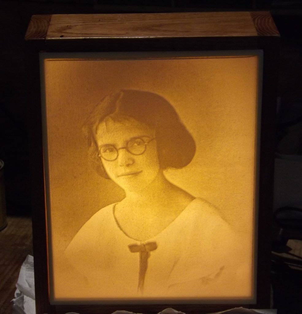 Carved old timey Lithopane