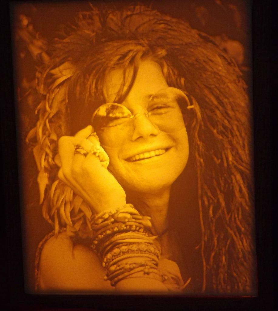 Carved Janis Joplin Lithopane