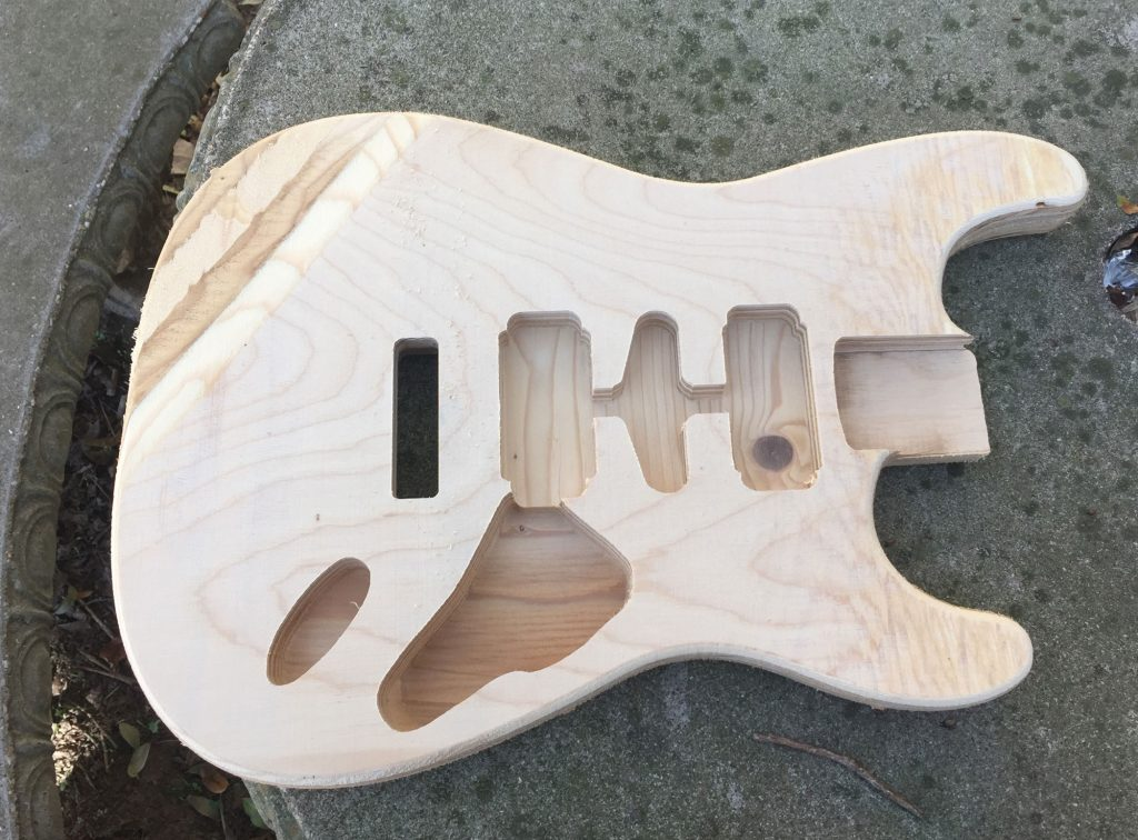 Student Strat in plywood