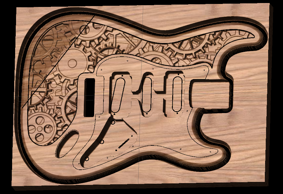 CarveWright steampunk guitar