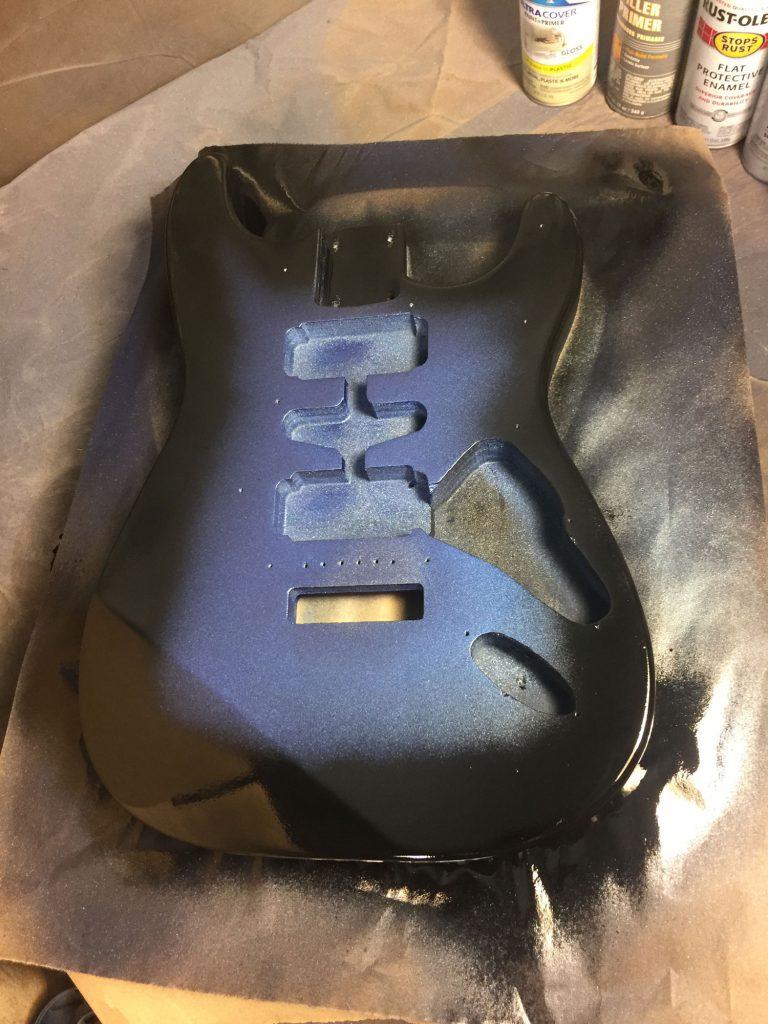 guitar sparkle burst paint