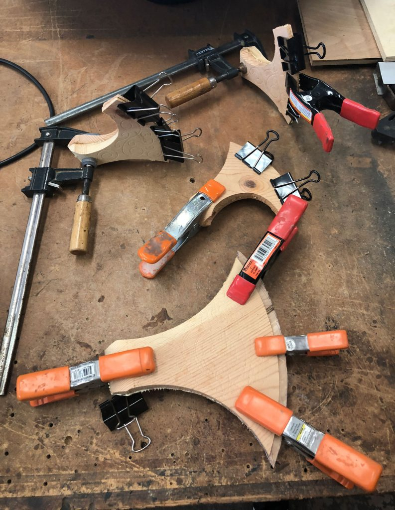 viking axes glued