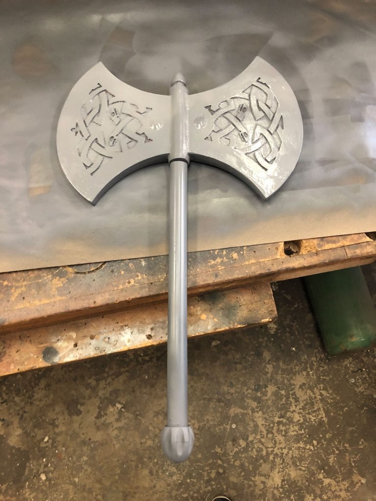 Full Battle Axe assembly