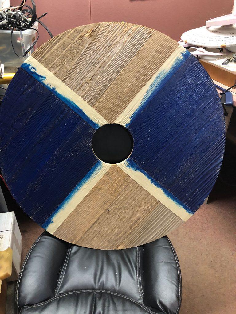 viking shield painting process