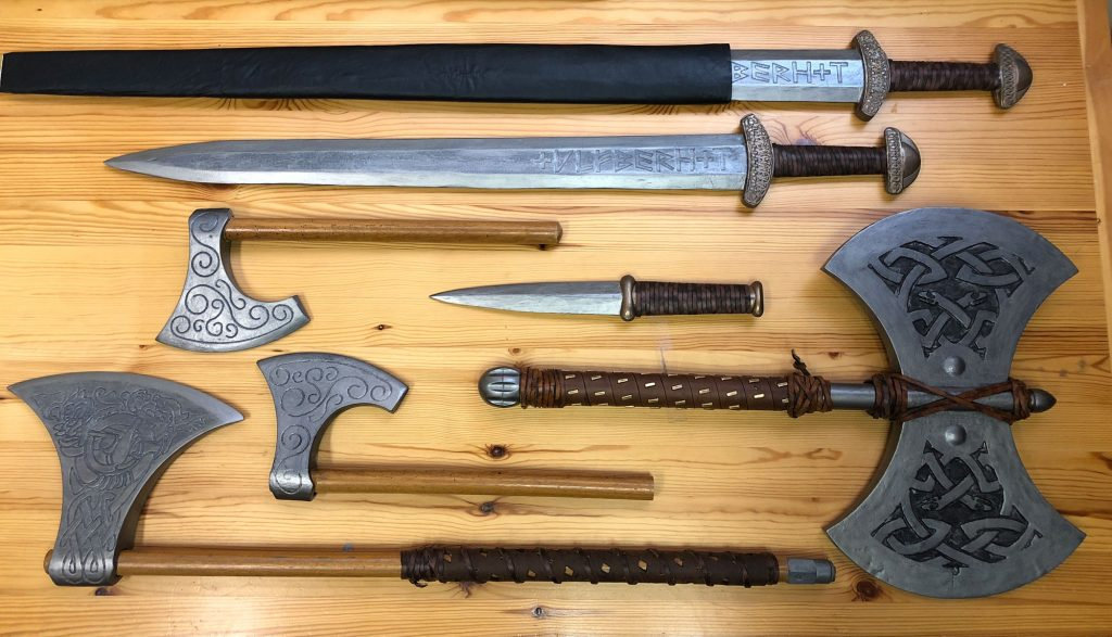 CarveWright carved viking weapons