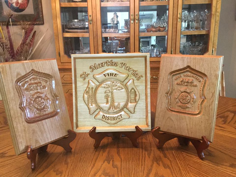 fire department carvings
