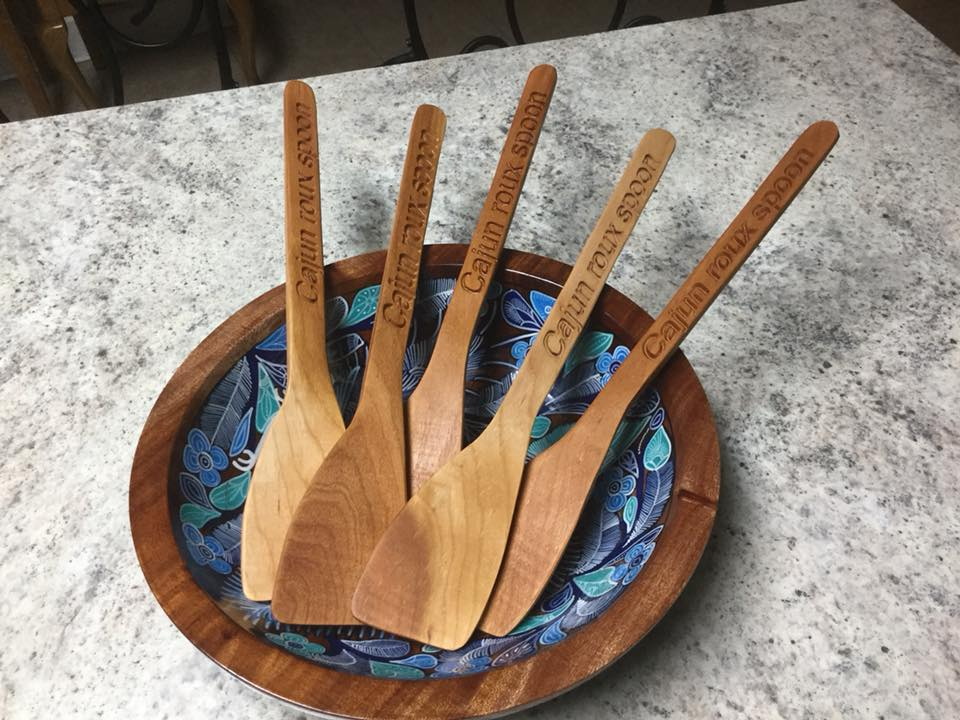 carved cajun spoons
