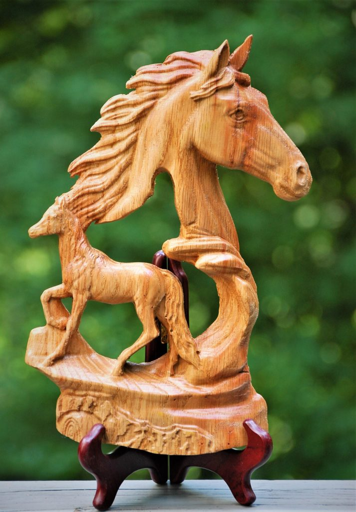 Horse sculpture carving