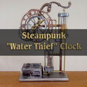 "Steampunk ""Water Thief"" Clock"