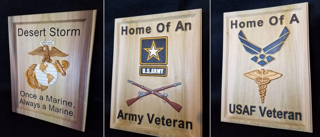 CarveWright Military plaques