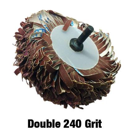 Double 240 Grit Sanding Mop Kit