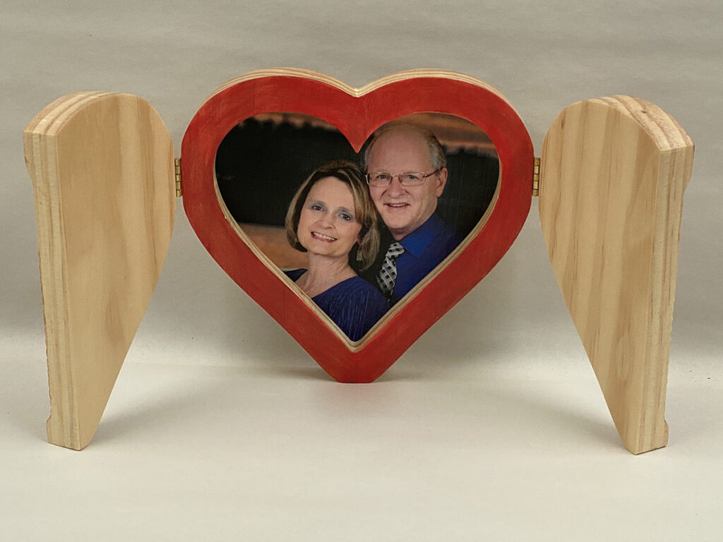 heart frame project finished open