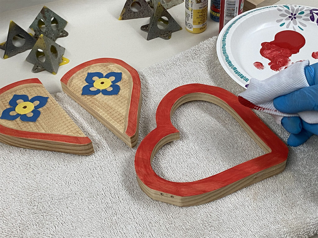 heart frame project painting