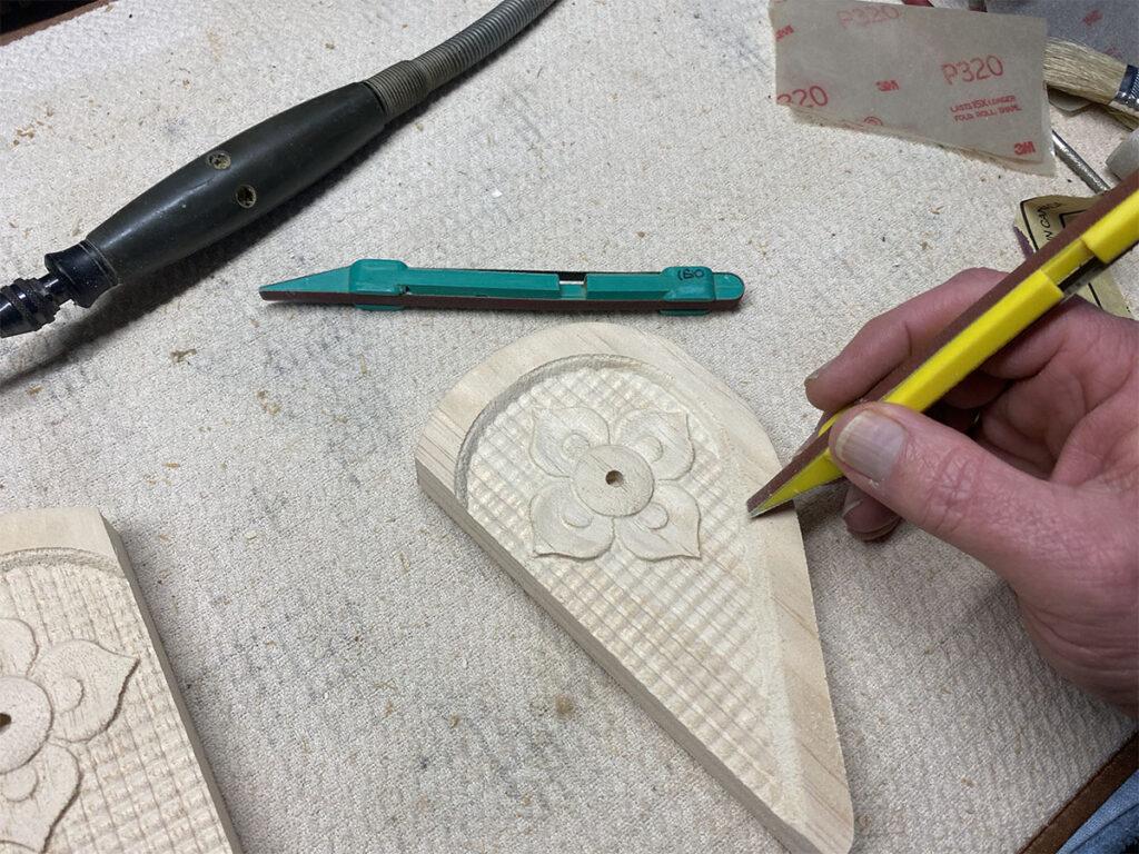 heart frame project sanding