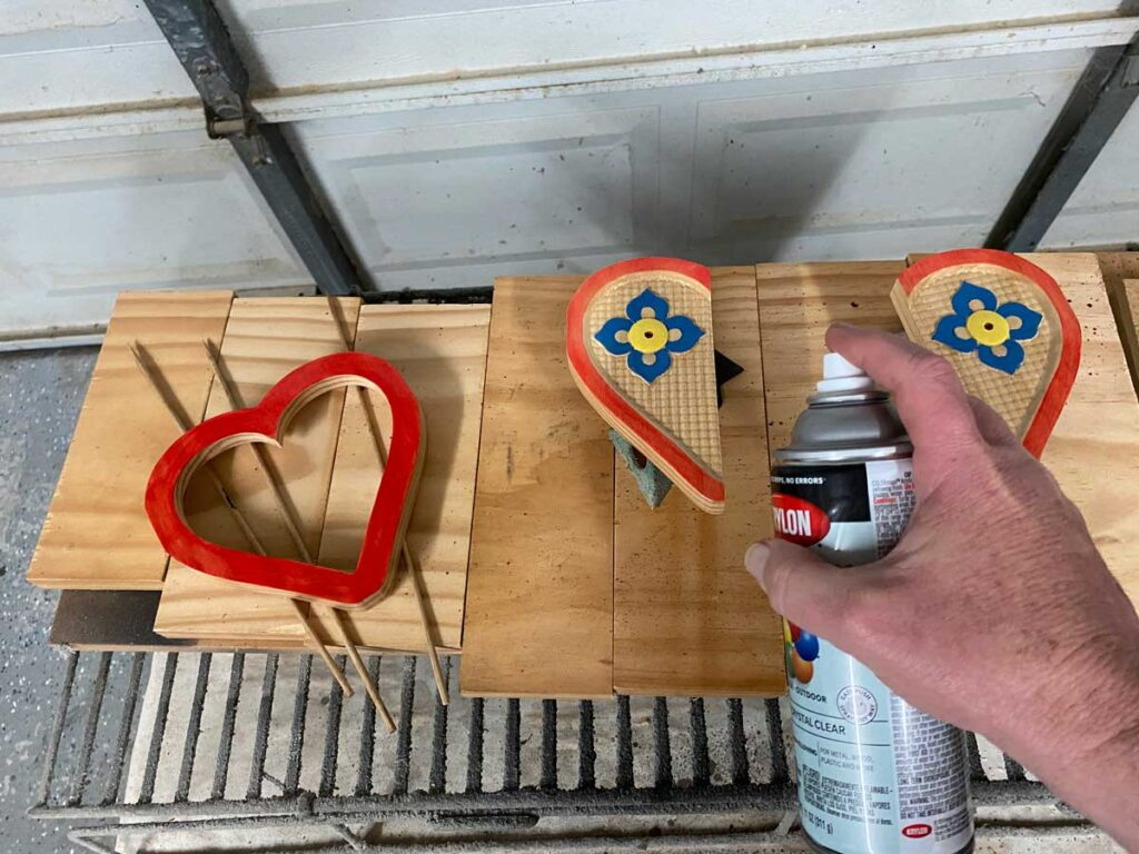 heart frame project clear coat